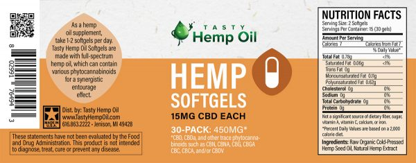 Hemp CBD Soft Gels